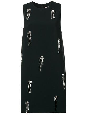 dress high women embellished black