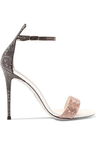 rose embellished sandals leather sandals leather satin shoes