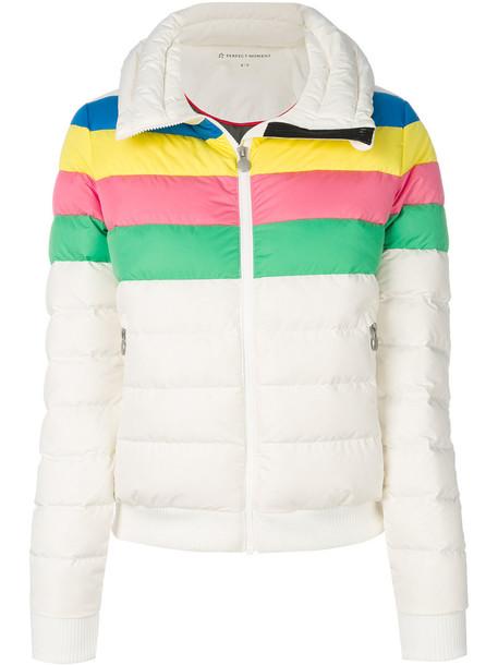 Perfect Moment jacket rainbow women white