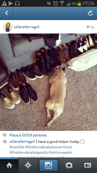 dog white black shoes chiara ferragni the blonde salad sneakers slipon cheetah leather