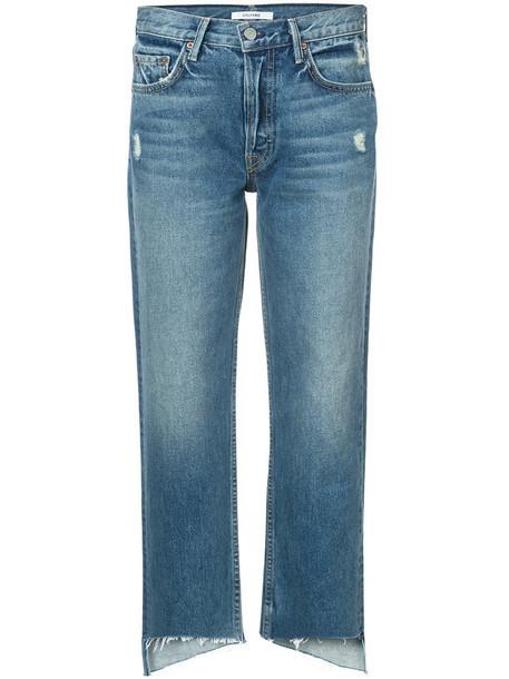 GRLFRND jeans cropped women cotton blue