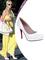 Paris hilton heels white leather round toe platform wedding red bottom stiletto 120 mm new simple pump pumps