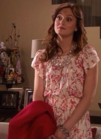 dress pink white dress pink white blair waldorf blair gossip girl