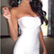 Bandeau midi bandage dress white