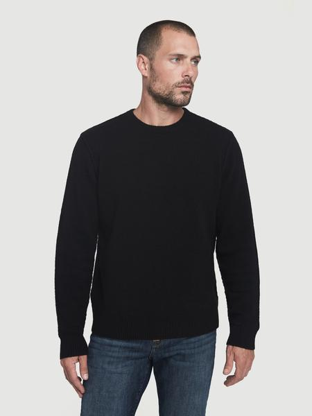 Sustainable Cashmere Seamed Crew Noir
