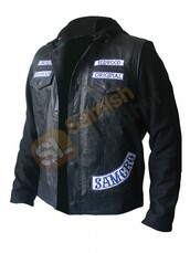jacket,charlie hunnam,leather jacket,leather fashion,halloween,cosplay,cosplay fashion,movies,bikers,sons of anarchy