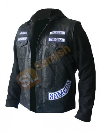 jacket charlie hunnam leather jacket leather fashion halloween cosplay cosplay fashion movies bikers sons of anarchy