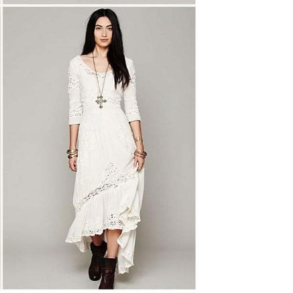 Dress Long Sleeves Boho Dress Bohemian Dress Wheretoget