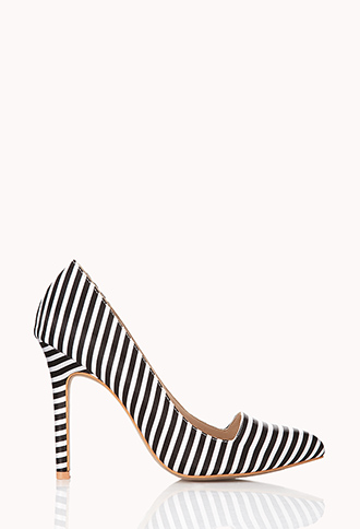 Standout Striped Pumps | FOREVER21 - 2000051523