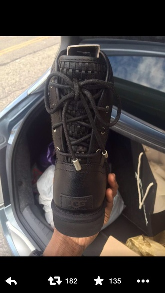 shoes ugg boots black