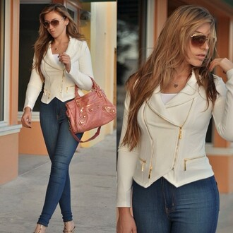 jacket white blazer