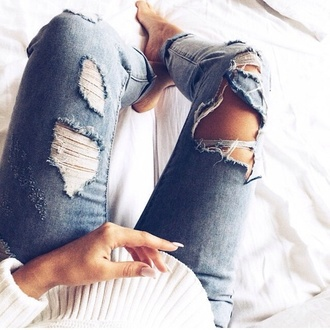 jeans ripped ripped jeans perfect perfecto inspirational
