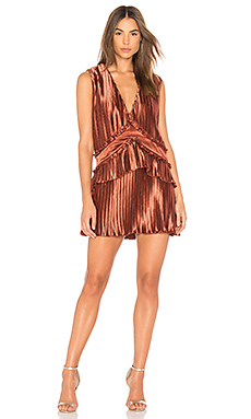 Finders Keepers Stardust Ruffle Mini Dress in Copper from Revolve.com
