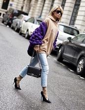 shorts,jacket,pattern,whool,häkel,shoes,black pumps,heels,hoodie,cardigan,pointed toe pumps,pumps,jeans,denim,blue jeans,purple
