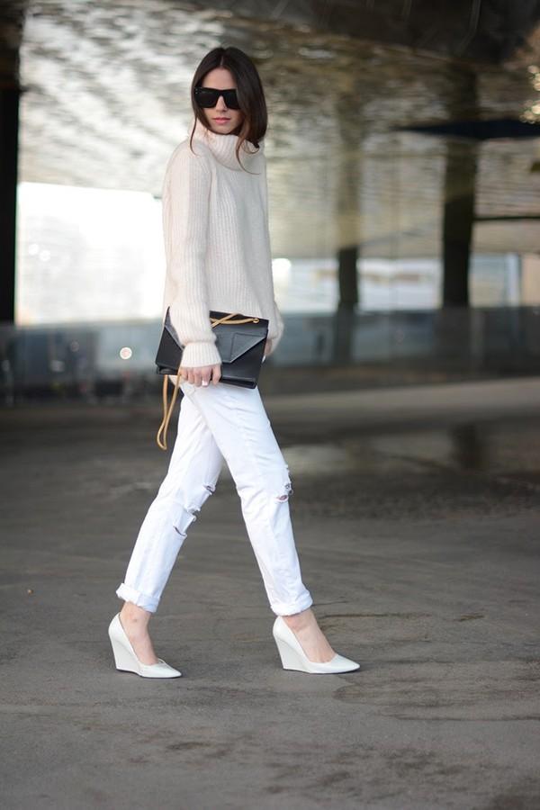 fashion vibe shoes sunglasses jeans bag sweater