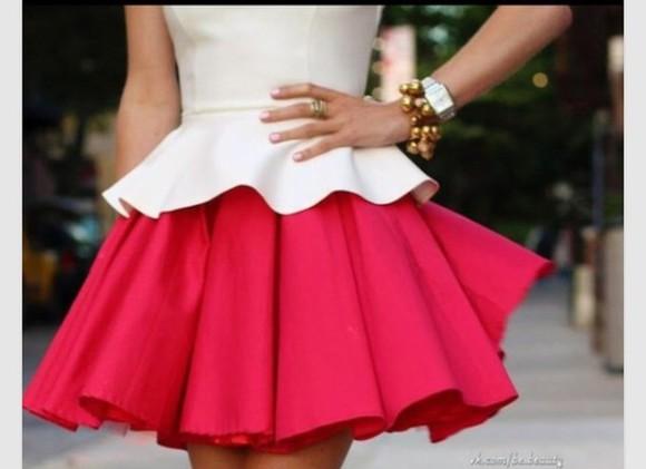 skirt red skirt pink skirt