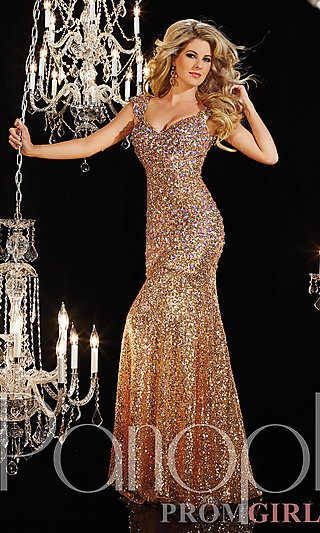 Prom Dresses, Celebrity Dresses, Sexy Evening Gowns - PromGirl: Floor Length Sequin Panoply Dress