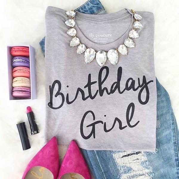 Birthday Girl T-Shirt Girls Top 16th Birthday 18th 21st 30th 40th 50th