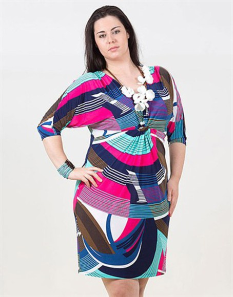waves blue dress summer outfits curvy curvy dress multi colored plus size dresses summer dress pink dress multicolour dress clubwear party dress