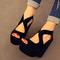 2013 summer fashion high heeled shoes platform open toe platform wedges sandals female shoes