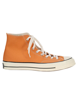 classic sneakers orange shoes