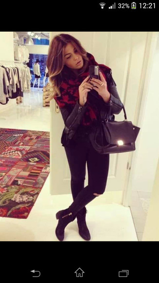 jeans black jacket allblack