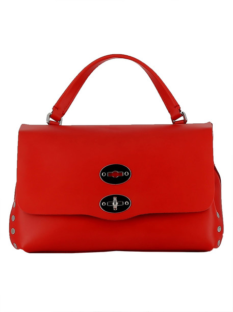 handbag leather red bag