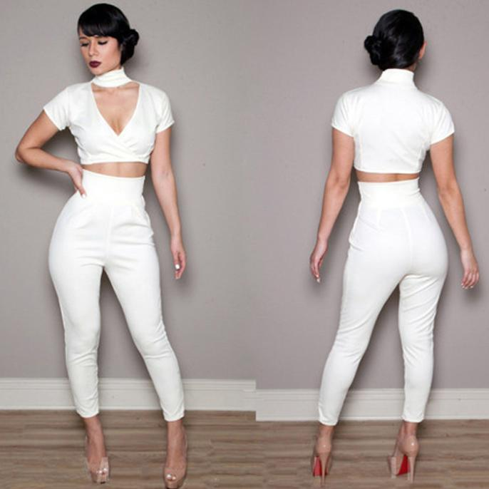 All White Womens Jumpsuit | Fashion Ql