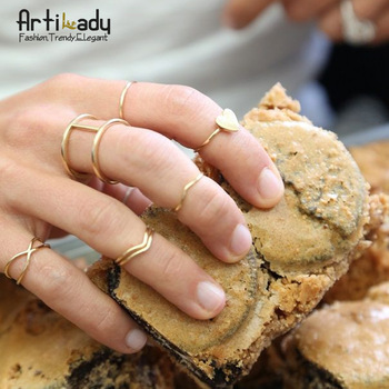 Aliexpress.com : Buy Artilady gold plated midi 7pcs set stacking rings fashion infinite women ring jewelry from Reliable jewelry head suppliers on ArtiLady Jewelry (No Min. Order)