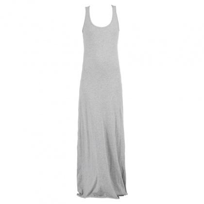 581cb5666ea Robe longue grise coton