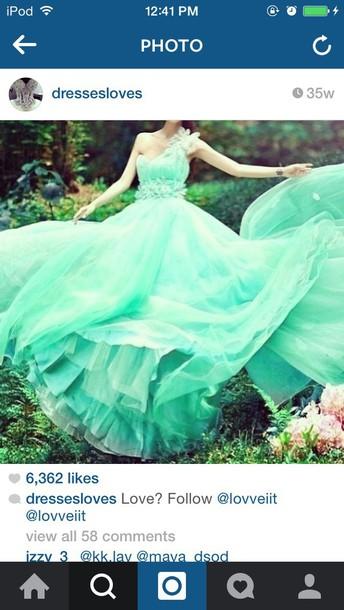 dress mint prom dress jewls