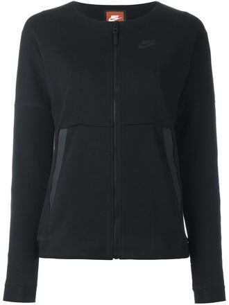 sweatshirt zip black sweater