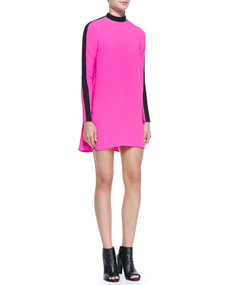 Sleeve colorblock dress