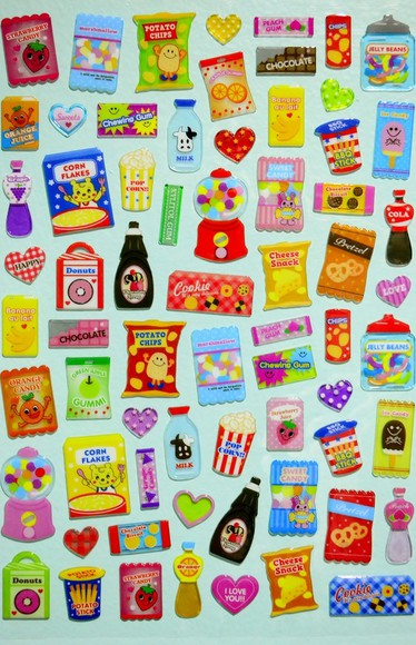 food jewels cute colorful tumblr stickers tumblr stickers