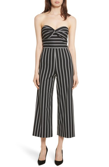 Veronica Beard Cypress Stripe Strapless Jumpsuit | Nordstrom
