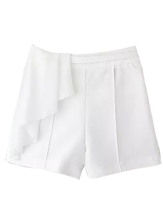 shorts straight brenda-shop casual white white shorts ruffle draped sexy date outfit cute summer summer outfits retro vintage nice teenagers