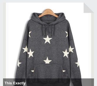 pullover star stars star sweater hoodie