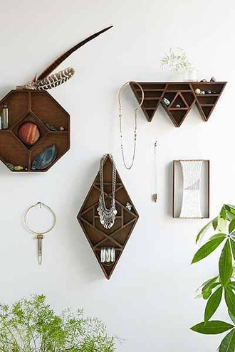 home accessory home decor place shelf triangular geometric accessories hipster organizer