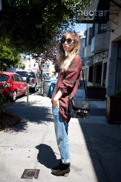 rumi,fashion toast,burgundy sweater,sweater