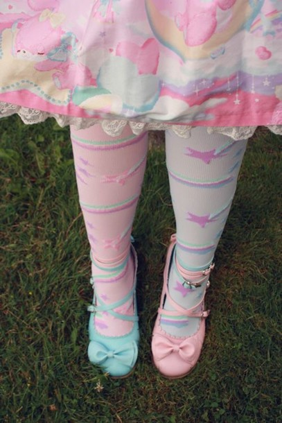 tights kawaii pastel style dress