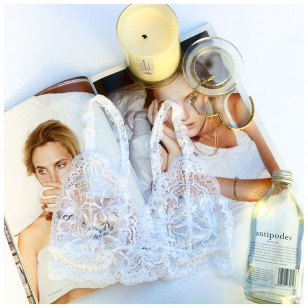 underwear white lace lingerie antipodes magazine jewelry gold pink jeans nikes bralette bra fashion