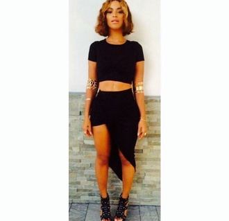 skirt beyonce black jewels gold shoes