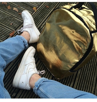 bag backpack grunge pale jeans metallic