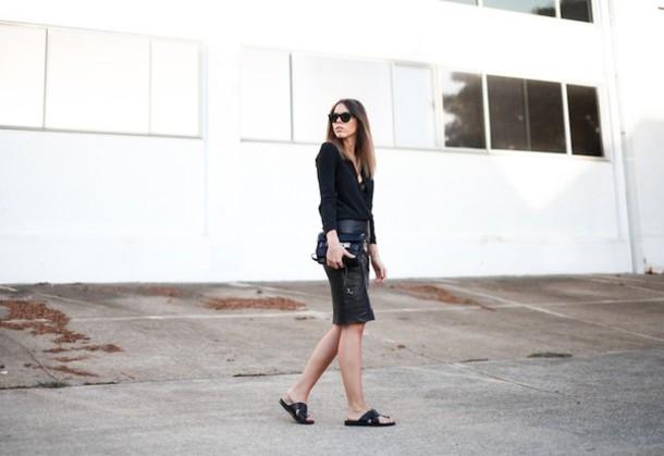 modern legacy shirt skirt shoes bag sunglasses