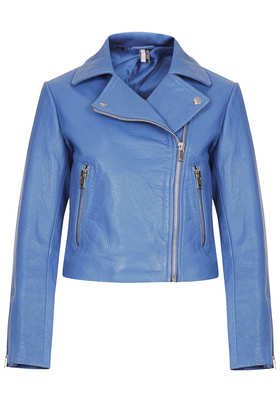 Boxy Leather Biker Jacket - Jackets & Coats  - Clothing  - Topshop USA