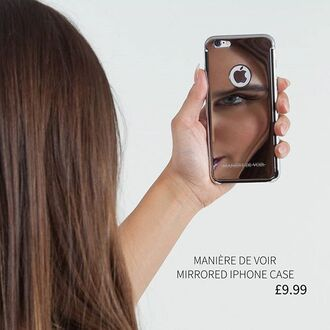 phone cover maniere de voir mirrored iphone silver iphone cover
