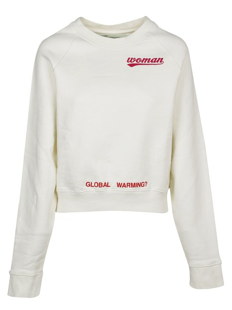 Off-White sweater rose print white