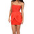 Diane Red Chiffon Bandage Dress | Emprada