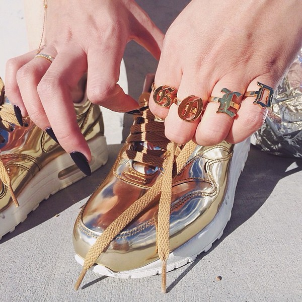 jewels gold ring ring shoes