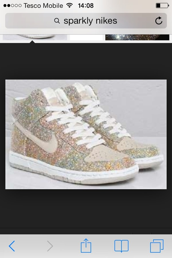 shoes nike gold sparkle nikes